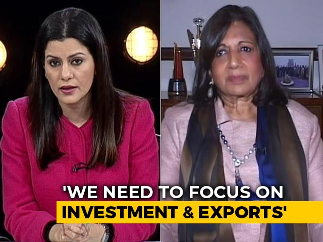 "Video: ""Not Surprising"", Says Kiran Shaw On IMF Prediction Of India Slowdown"