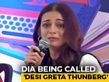 "Video : ""Desi Greta Thunberg"": Actor Dia Mirza Trolled For Breaking Down At Event"