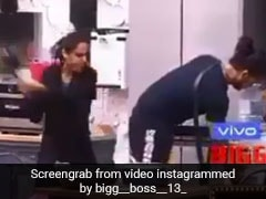 Bigg Boss 13: बिग बॉस में मधुरिमा ने पतीला मार-मारकर विशाल का किया बुरा हाल, देखें Video