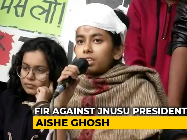 Video : No Attacker Named By Cops, But Case Filed Vs Injured JNU Student Leader