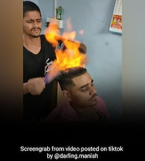 Playing With Fire: Barber's Blazing Haircut Viral With 43 Million Views
