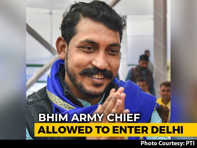 Video : Chandrashekhar Azad, Barred From Delhi For 4 Weeks, Allowed To Enter City