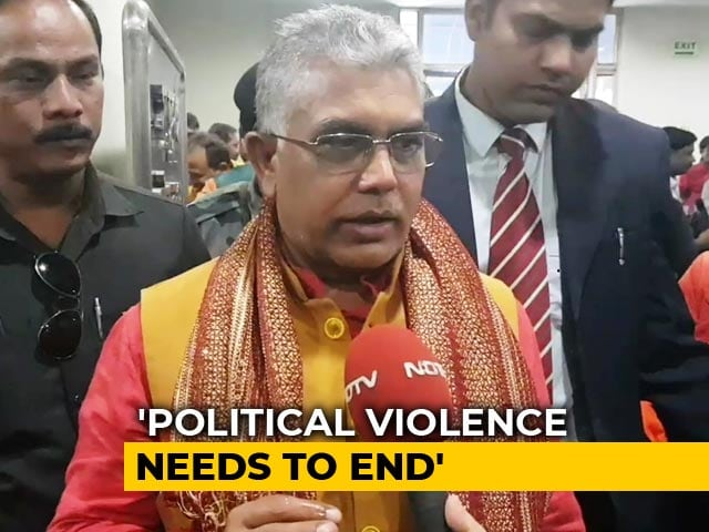 "Video : Dilip Ghosh Re-Named Bengal BJP Chief Amid Row Over ""Like Dogs"" Remark"