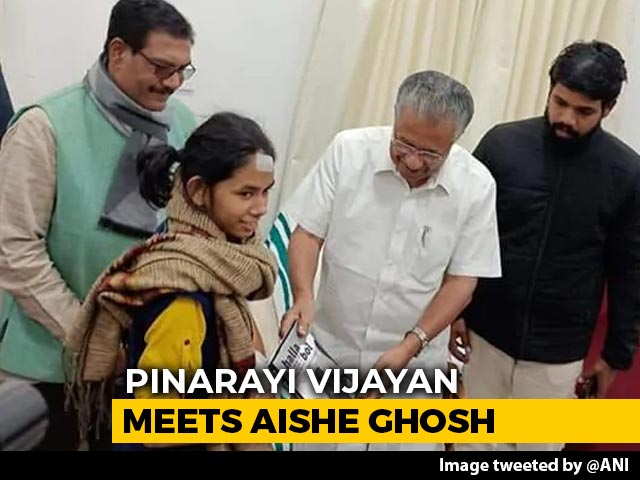 "Video : ""JNU Put Up Uncompromising Fight..."": Pinarayi Vijayan Meets Aishe Ghosh"