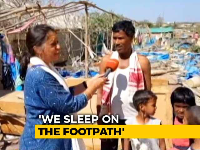"Video : ""We Sleep On Foothpath"" Say Those Whose Huts Were Demolished In Bengaluru"
