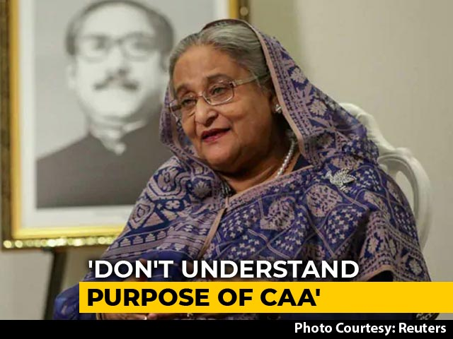 Video : Sheikh Hasina Says Citizenship Law Unnecessary But India's Internal Matter