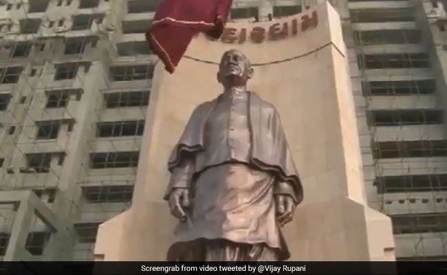 Vijay Rupani Unveiled 50-Foot Tall Statue Of Sardar Patel In Ahmedabad