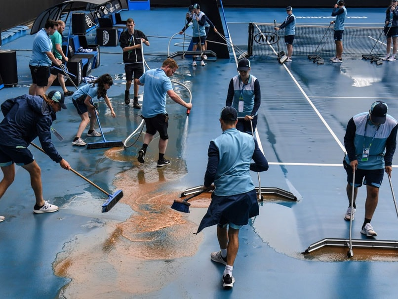 Mud Stops Play: After Smog, Wind, Rain, New Challenge For Australian Open