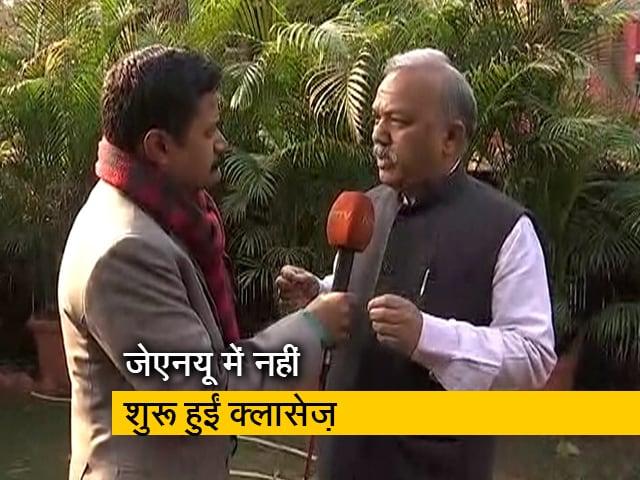 Videos : दिल्ली : JNU में विरोध के बीच नहीं शुरू हुईं क्लासेज़