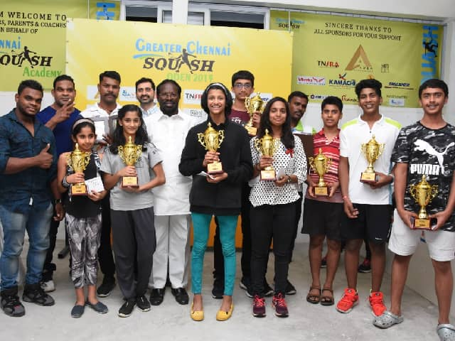 Congress MP K. Jeyakumar has been a chief guest for Greater Chennai Squash Open 2019 held last 21st to 24th December