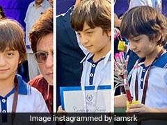 शाहरुख खान के बेटे अबराम ने जीता मेडल, तो किंग खान ने यूं जताई खुशी- देखें Photos