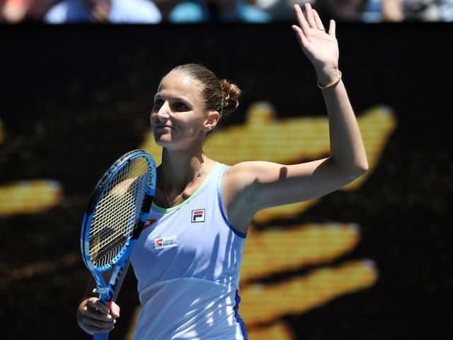 Australian Open: Karolina Pliskova Beats Kristina Mladenovic To Storm Into Second Round