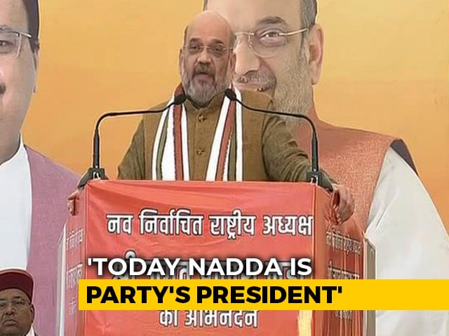 Video: BJP Not Dynastic, Says Amit Shah On JP Nadda As Party Chief