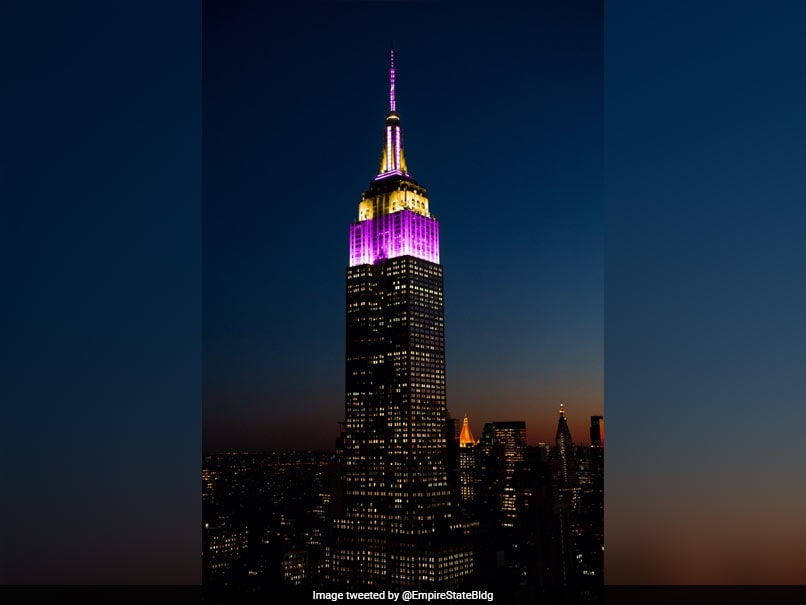 Empire State Building Lit Up In LA Lakers Colours To Honour Kobe Bryant