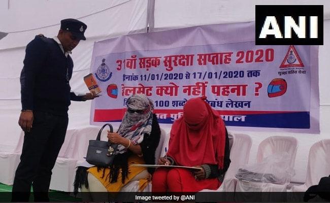 Helmetless 2-Wheeler Riders Asked To Write Essay In Bhopal