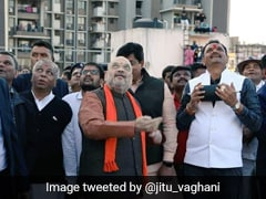 Amit Shah Flies Kite In Ahmedabad To Celebrate Makar Sankranti