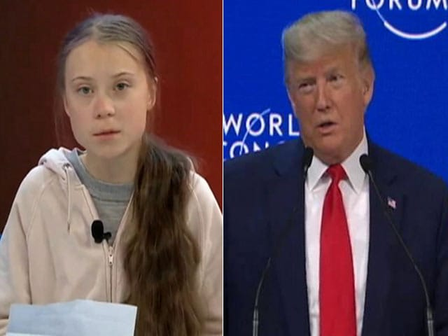 Video : NDTV At Davos: Donald Trump And Greta Thunberg The Showstoppers