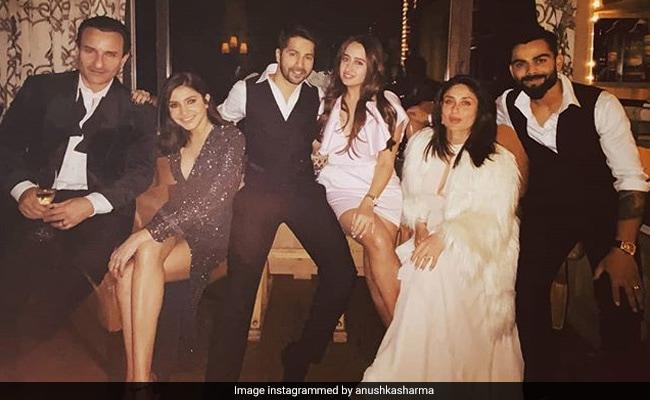 Kareena Kapoor And Saif Ali Khan Enjoy New Year's Eve With Anushka Sharma-Virat Kohli And Varun Dhawan-Natasha Dalal. See Pics