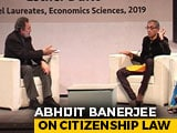 "Video : ""One Thing Which Worries Me..."": Abhijit Banerjee On Citizenship Law"