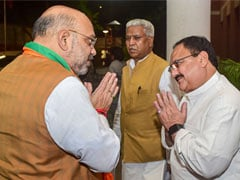 Amit Shah, Leaders Discuss Migrants' Issue, Economy At JP Nadda's Residence