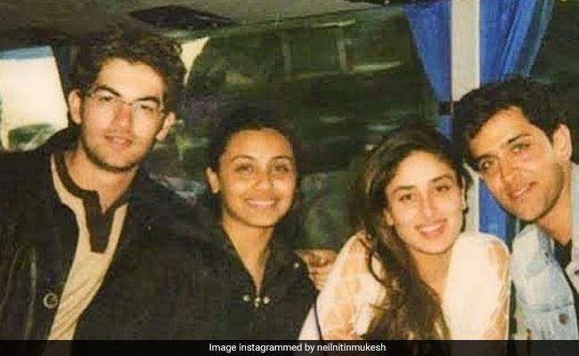 This Pic Of Hrithik Roshan, Kareena Kapoor, Rani Mukerji Is A 'Major Throwback' Treat. Courtesy - Neil Nitin Mukesh
