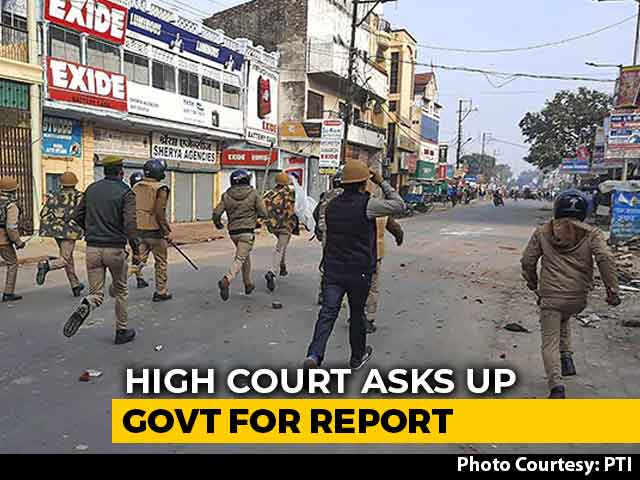 Video : Court Asks Uttar Pradesh For Report On Police Action During CAA Violence