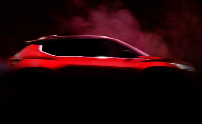 The teaser image indicates the new Nissan sub-4 metre SUV could borrow its cues from the Kicks
