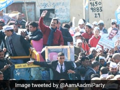 Delhi Elections: Arvind Kejriwal Holds Roadshow In Northwest Delhi's Matiala
