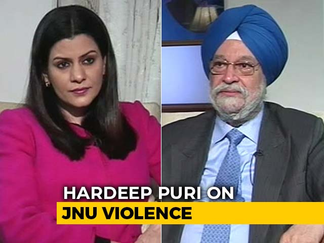 """Video : """"Enquiry Committee To Look Into JNU Violence"""": Minister Hardeep Puri"""