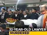 Video : UP Lawyer Murdered, Colleagues Take Body To District Magistrate's Office