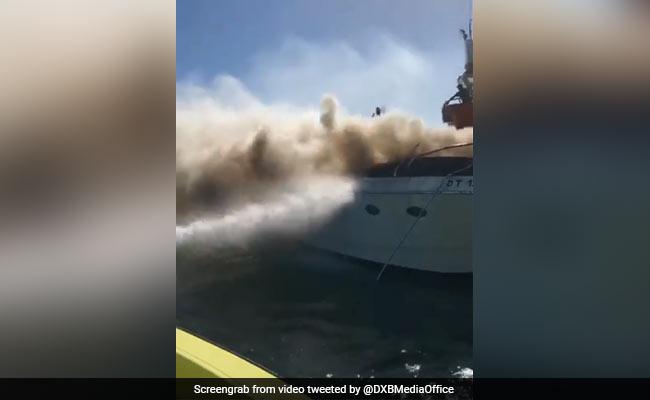 Fire Guts Yacht Near Burj al-Arab Hotel In Dubai