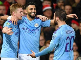 Manchester City Outclass Manchester United To Put One Foot In League Cup Final