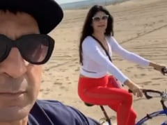 Golden Globes After Party Done, Pooja Batra And Nawab Shah Chill In California
