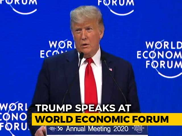 "Video : ""...No Better Place Than US"": Trump Lauds His Economic Initiatives In Davos"