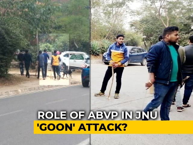 Video : Exclusive: Images Hint At BJP-Linked ABVP's Role In JNU Attack