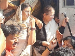 Ex-Speaker Sumitra Mahajan Among Hundreds Arrested At Indore BJP Protest