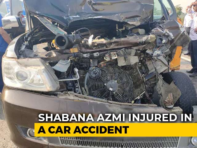 Video : Actor Shabana Azmi Injured After Her SUV Rams Truck On Mumbai-Pune Expressway