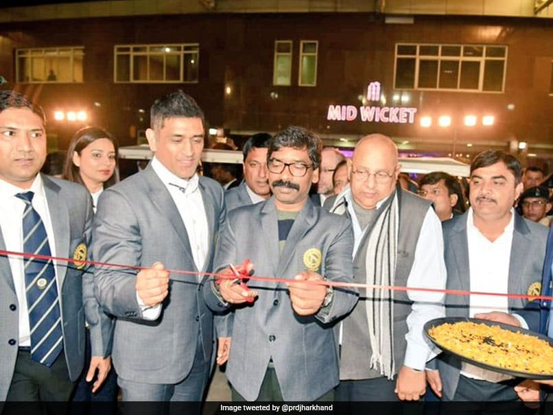 MS Dhoni, Jharkhand Chief Minister Inaugurate New Facilities At JSCA