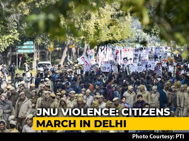 Video : Hundreds March In Delhi Protests, Demand JNU Vice-Chancellor's Removal