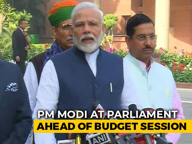 "Video : ""Hope For Detailed Discussion On Economy In Budget Session"": PM"