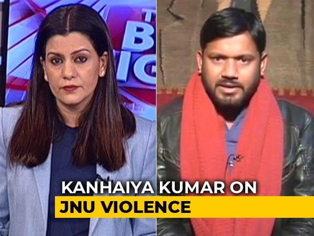 "Video : ""Cops Speaking Like ABVP"": Kanhaiya Kumar On JNU Attack"