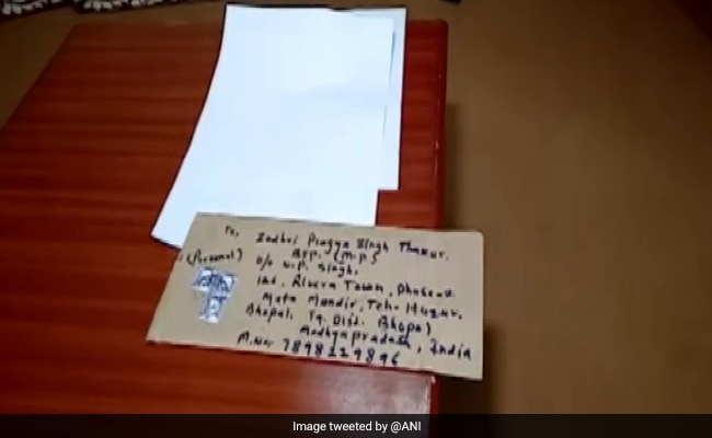 Pragya Thakur Gets Envelopes With 'Harmful Chemicals', Files Complaint
