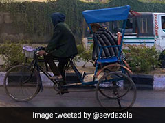 Wrapped In A Blanket, Dog Enjoys Rickshaw Ride. Viral Pics Will Make Your Day