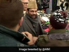 "Mukhtar Abbas Naqvi Visits Srinagar, Says, ""Positive Atmosphere"""