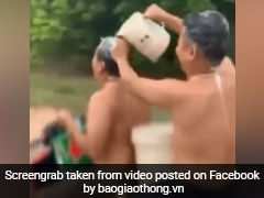 Two Men Take A Bath During Bike Ride. Bizarre Video Prompts Police Action