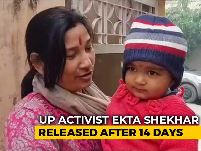 Video : UP Activist Released Weeks After Protest, Baby Ayra Reunited With Mother