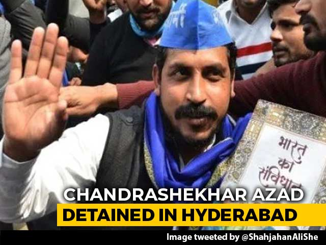 Video : Bhim Army Chief Detained In Hyderabad Ahead Of Anti-CAA Protest