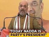 Video : BJP Not Dynastic, Says Amit Shah On JP Nadda As Party Chief
