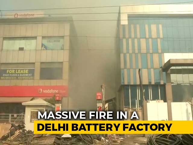 Video : Worker Trapped After Fire, Explosion At Battery Factory In Delhi