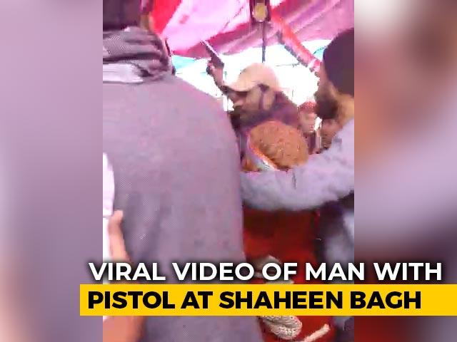 Video : Man Flashing Gun Caught At Delhi's Shaheen Bagh Protest